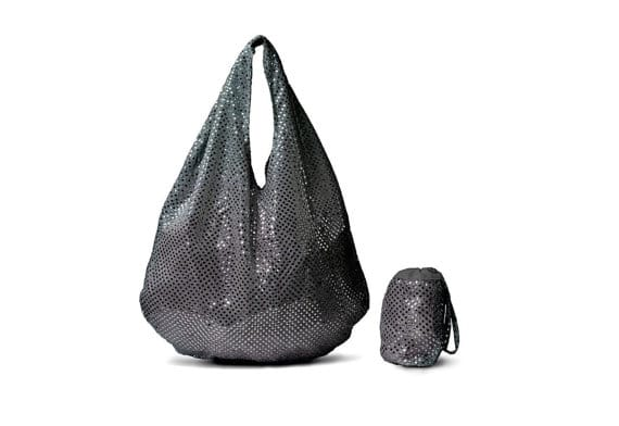 SLATE GREY Stainless Steel Sequin Tote