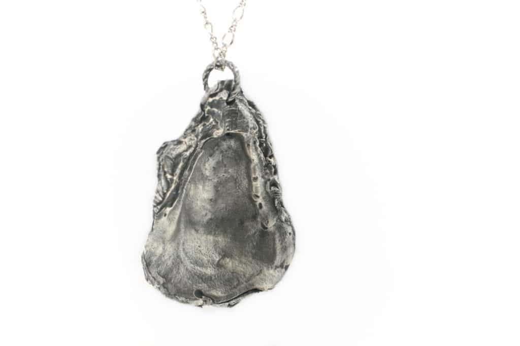 Oyster Necklace #1 – Satin Silver