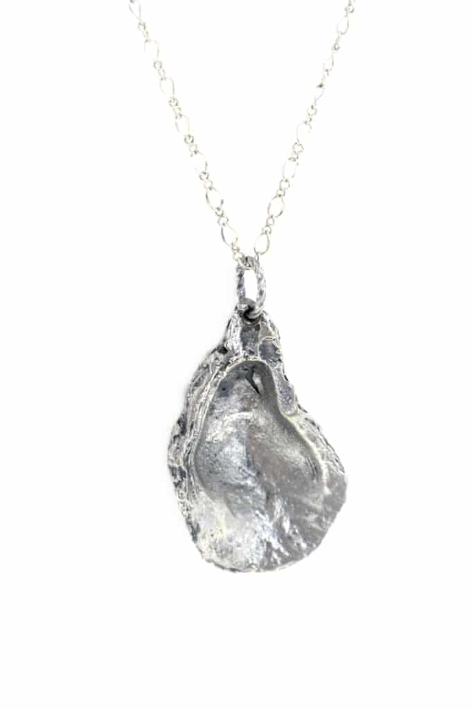 Oyster Necklace #2 – Satin Silver