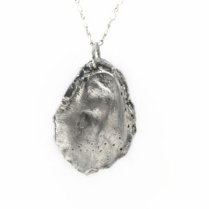 Oyster Necklace #4 – Satin Silver