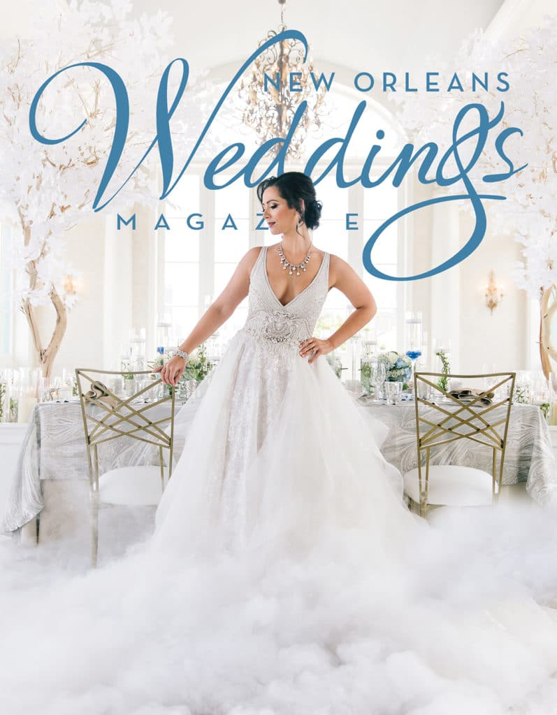The Oct 2017 Cover of New Orleans Weddings Magazine