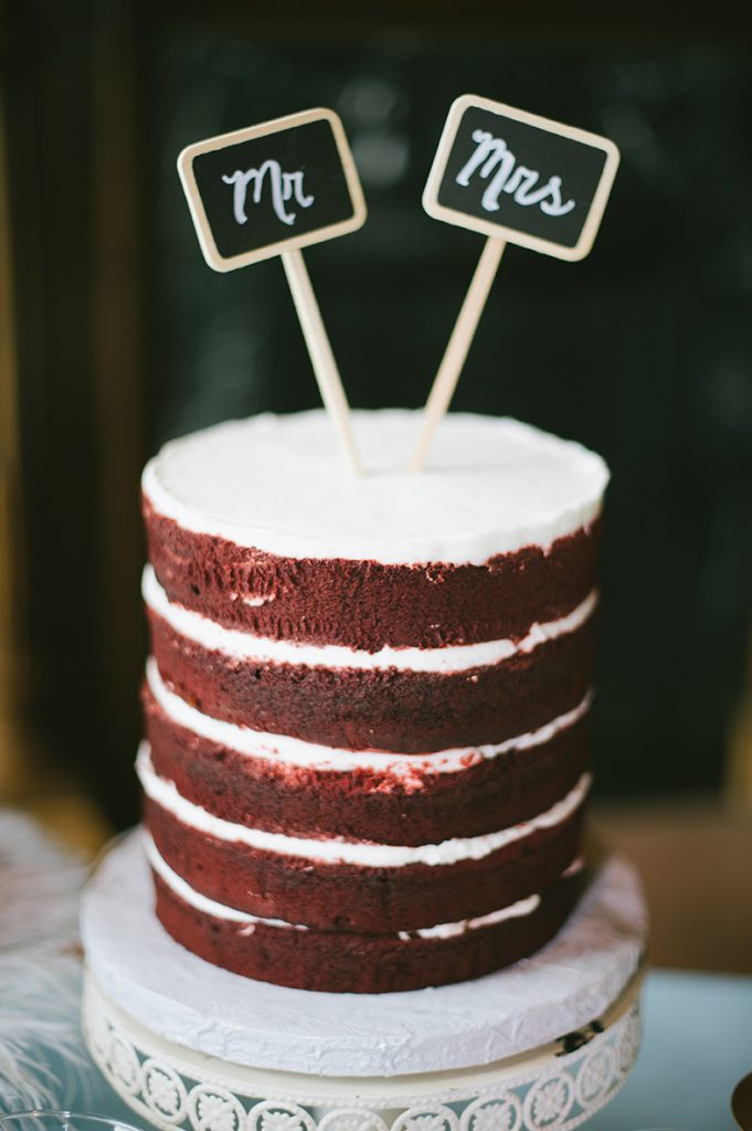 Gambino's Bakery Red Velvet Naked Cake. Photo: Lauren Carroll Photography