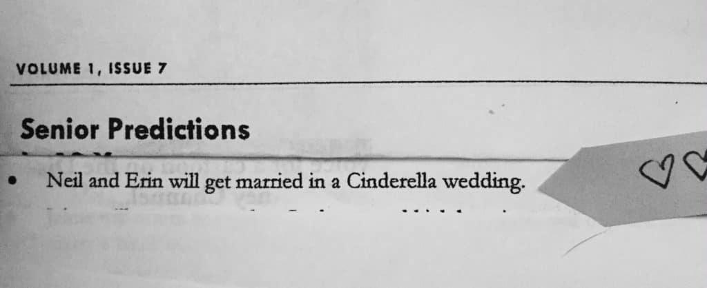 THE YEARBOOK PREDICTION :: Erin + Neil's Fairytale Wedding