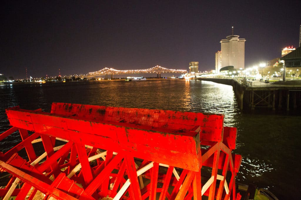 The paddle wheel of the Steamer Natchez. Photo: Images by Robert T