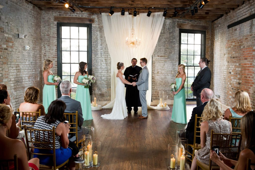 Indoor wedding ceremony at The Chicory. Photo: Welch Photography