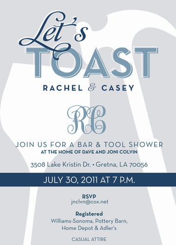 Couples Shower invitation design by Abbey Printing.