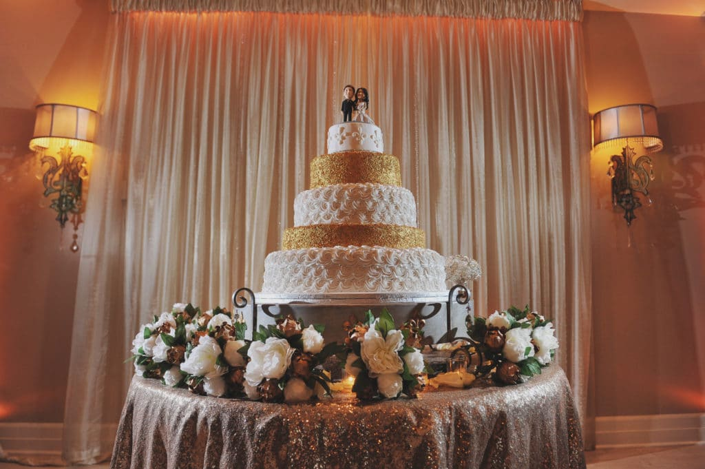 A Beautiful Cake Made By Haydel's Bakery Perfectly Represented The New Year's Eve Theme. Photo: Eric Bordelon, Studio Tran