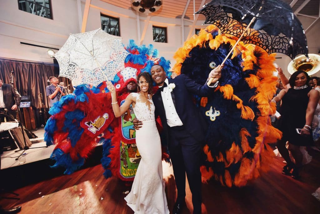 Wedding Second Line with Mardi Gras Indians