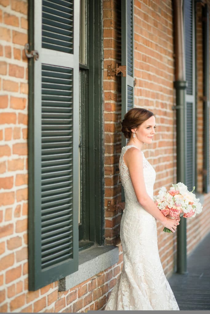 Bride on The Chicory's balcony. Photo: GK Photography