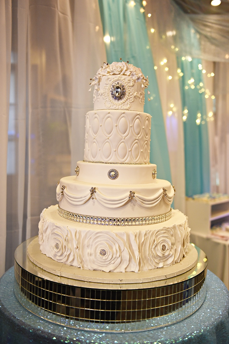 Gambino's Bakery Ornate Wedding Cake
