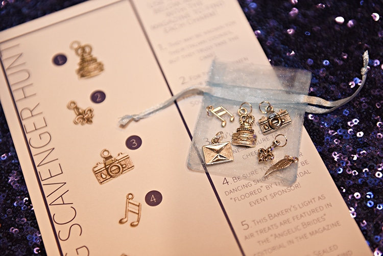 Something Blue guests participated in a Charming Scavenger Hunt to find a series of charms hidden throughout the event.