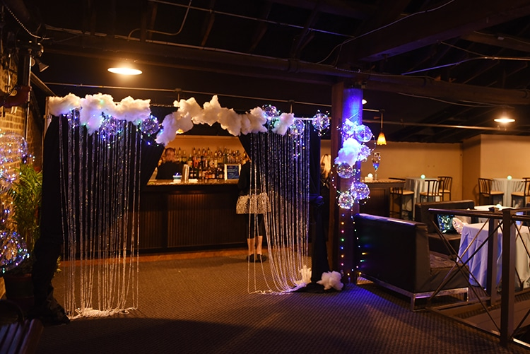 The Entrance to the Bubble Lounge at the 2018 Something Blue Bridal Event