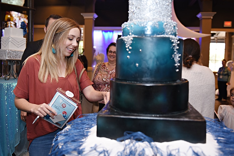 Cake pull for prizes at the Something Blue Bridal Event in New Orleans.