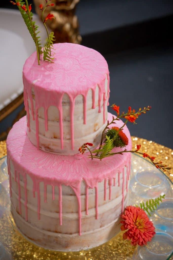 Gambino's Bakery pink drip cake. Photo: Brian Jarreau Photography