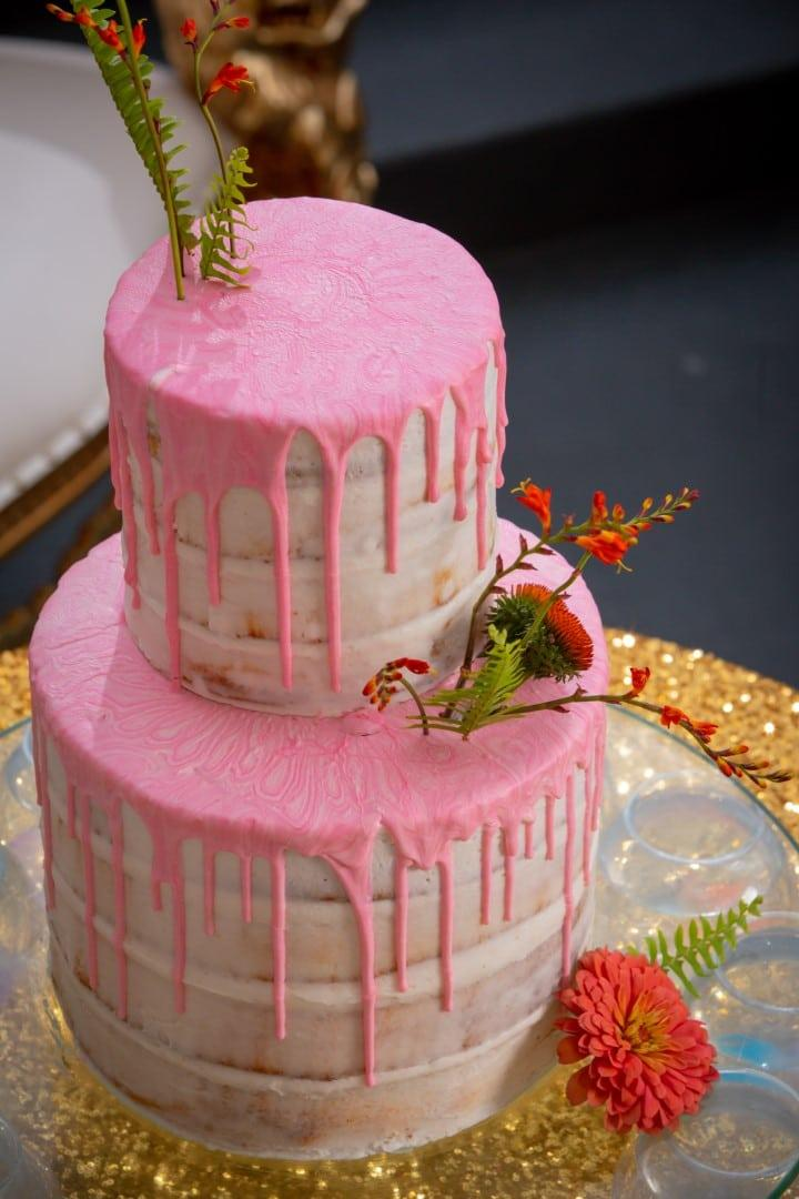 Gambino's Bakery pink drip cake. Photo: Brian Jarreau Photography