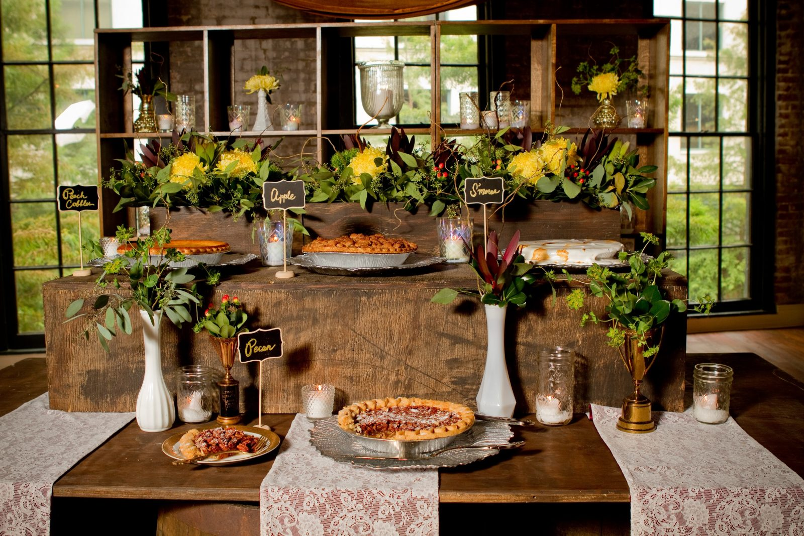 Vintage Fall Pie Buffet