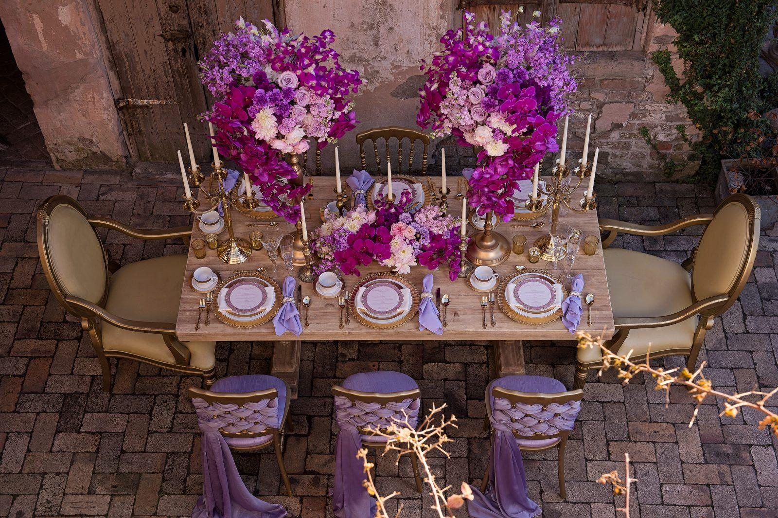 Shabby Chic wedding table at Race and Religious. Photo: Ardent Studio
