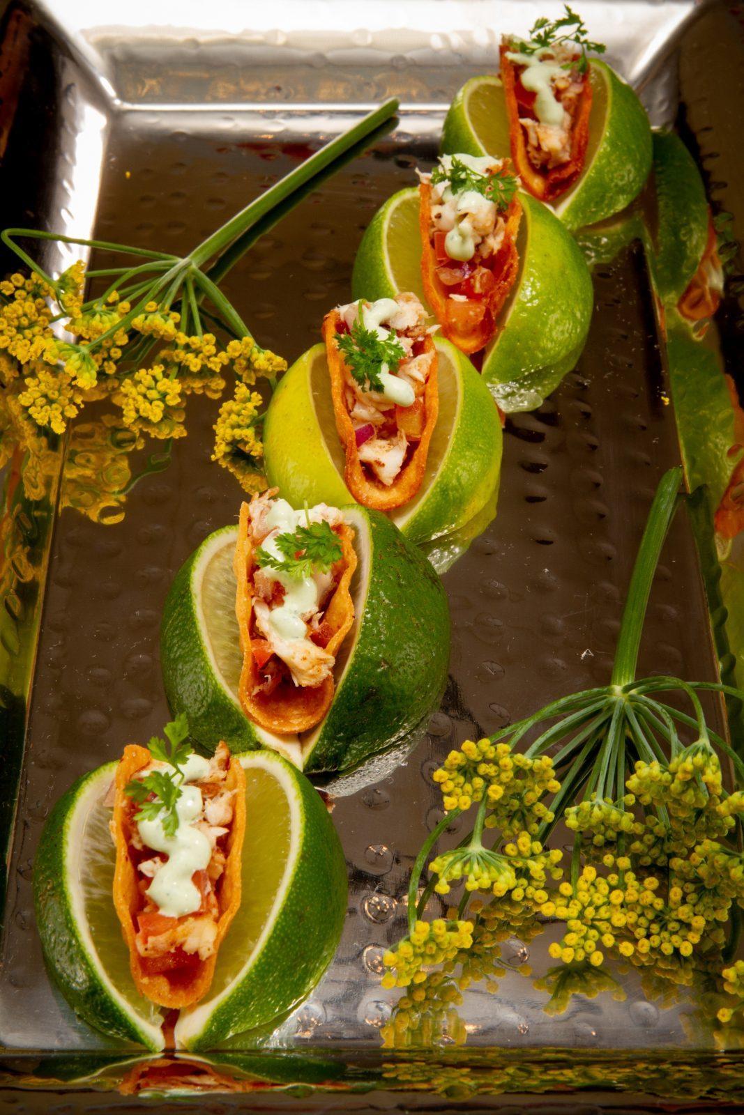 Mini tacos by Marie's Fleur De Lis Catering. Photo: Jessica The Photographer