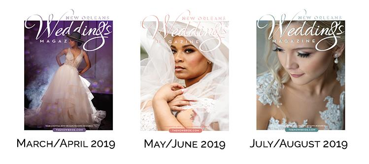 Spring + Summer 2019 Edition Covers of New Orleans Weddings Magazine