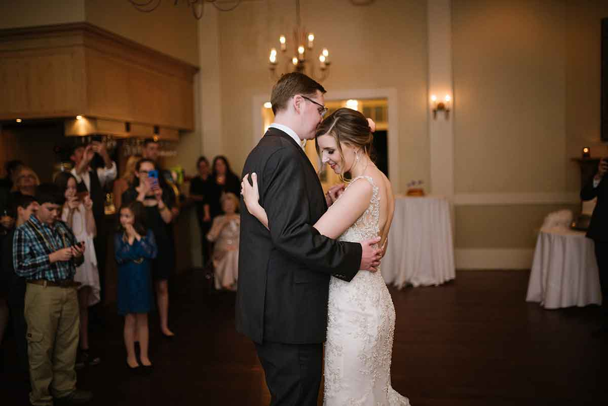 Newlyweds dance at Audubon Clubhouse. Photo: Lauren Carroll