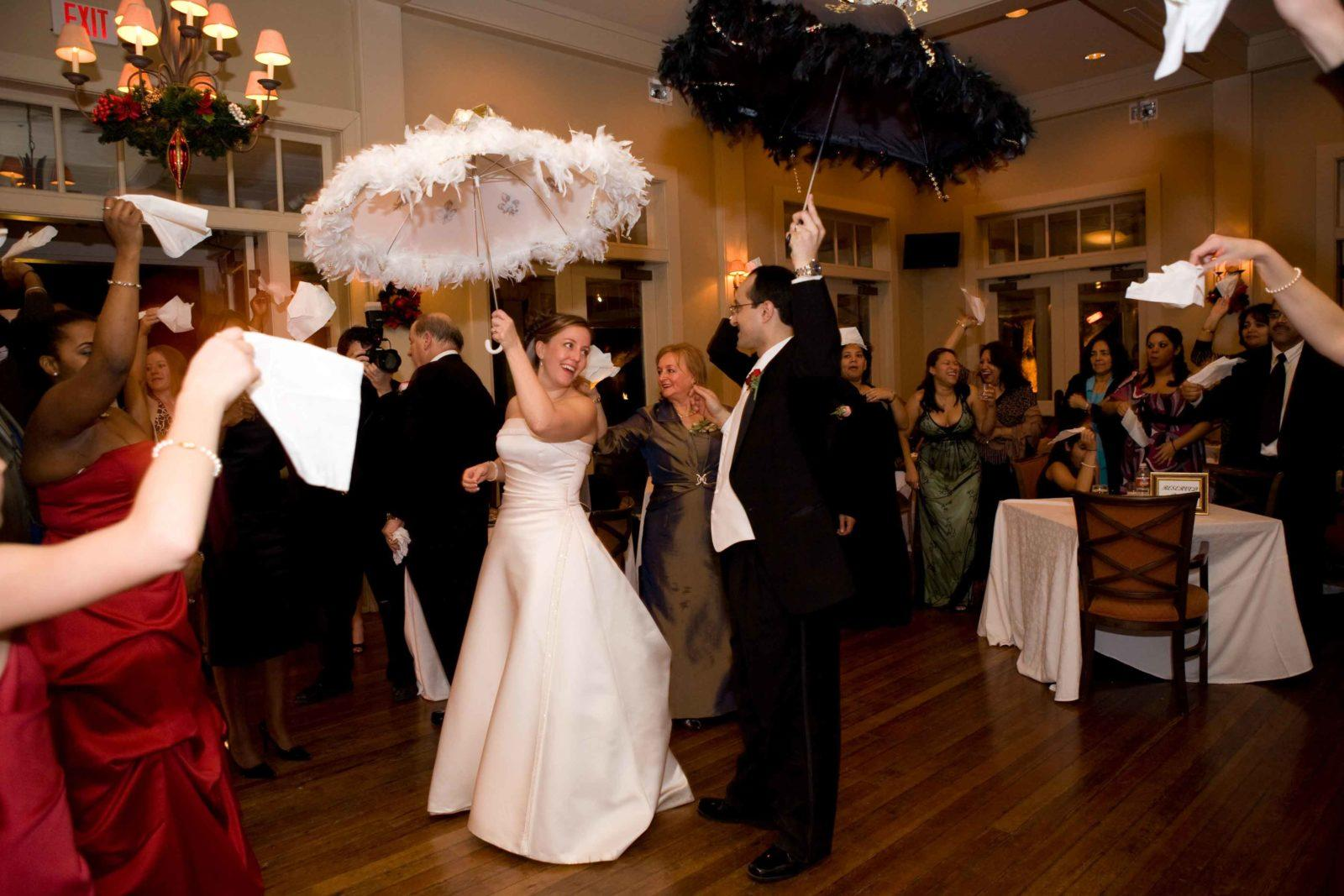 Wedding second line at Audubon Clubhouse. Photo: Studio Tran