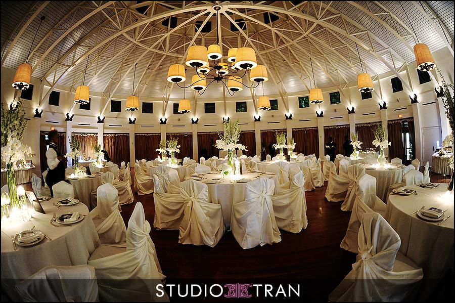 The Audubon Tea Room set for a wedding reception. Photo: Studio Tran