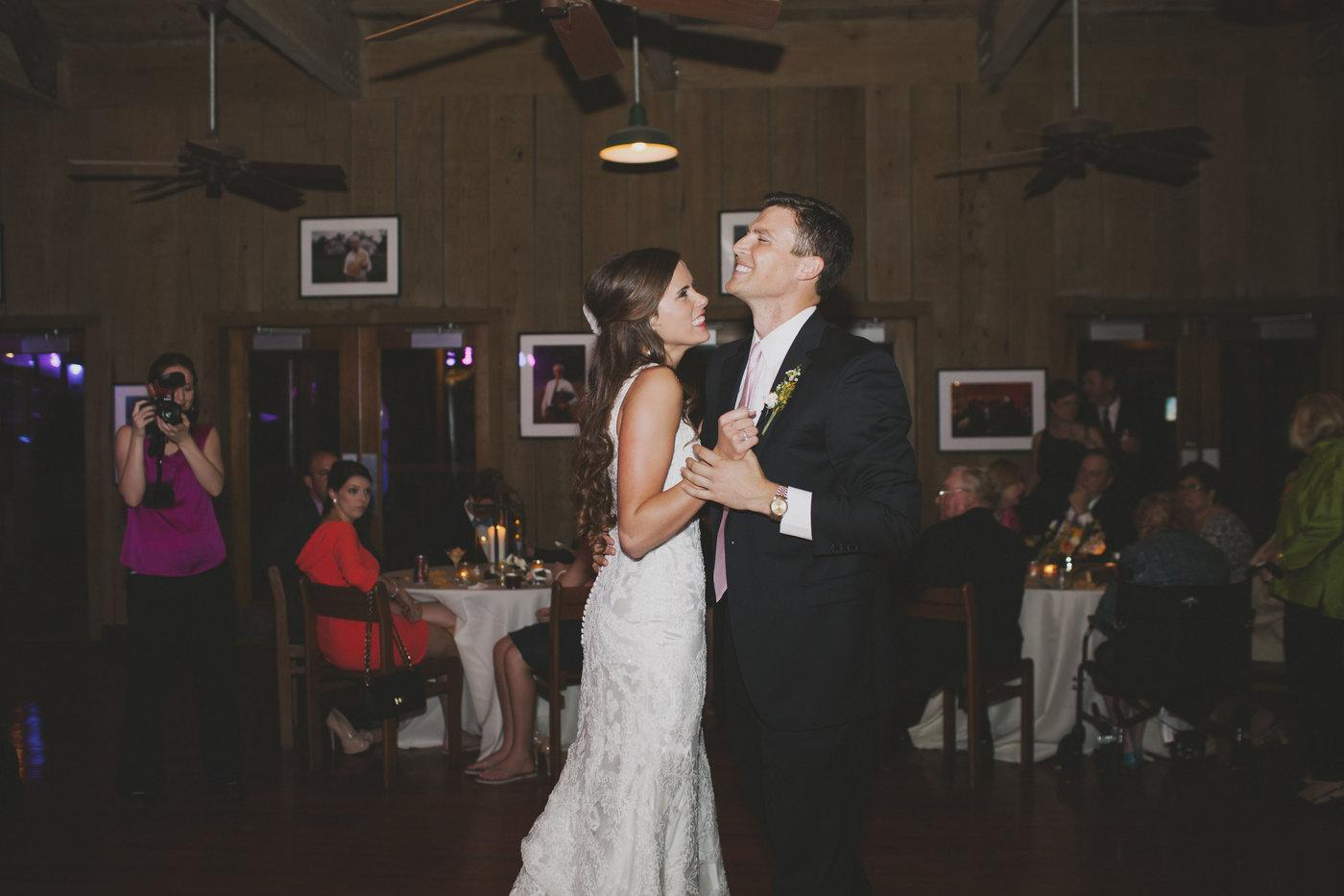 First dance in the Cajun Ballroom. Photo: Caitlin B Photography
