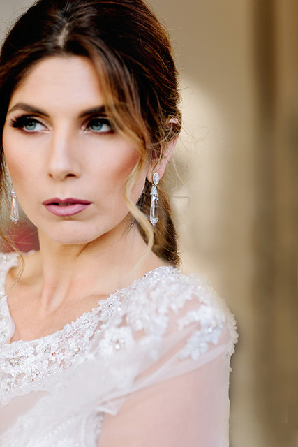Wedding makeup close-up. Photo: Theresa Elizabeth Photography