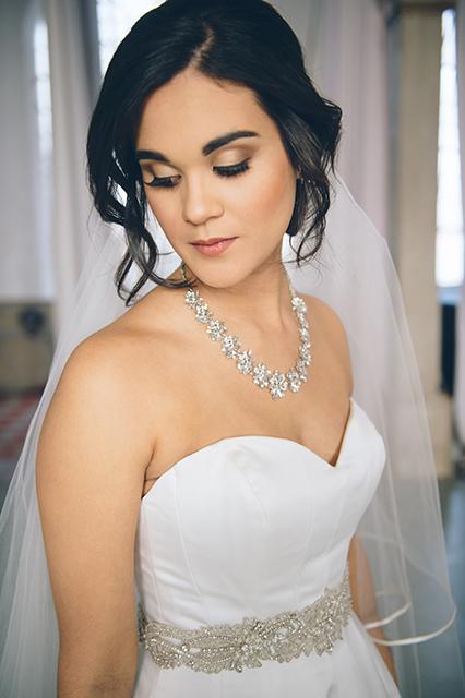 Bridal Portrait up-do. Photo: Fototech
