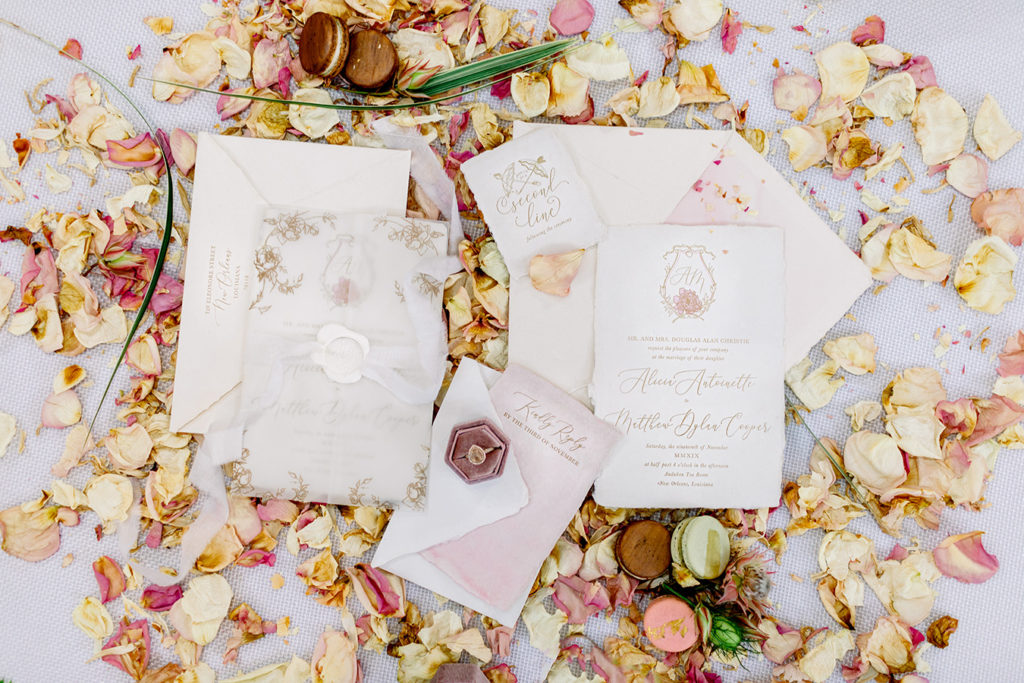 Letterpress wedding stationery suite by Eglantine Rose Letterpress