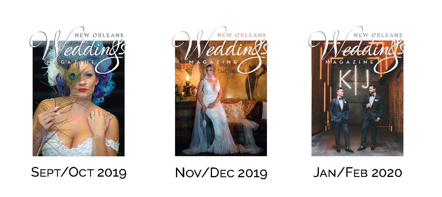 The Fall + Winter 2019/2020 Covers of New Orleans Weddings Magazine