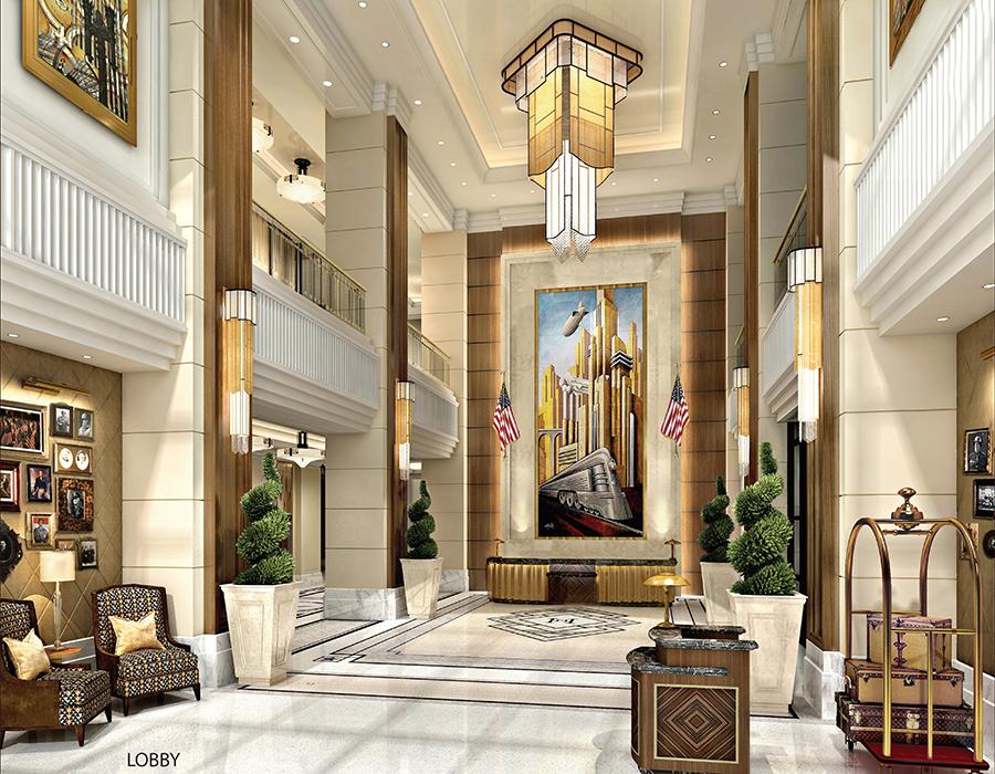 Higgins Hotel NOLA lobby