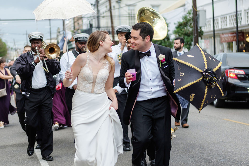 New Orleans wedding second line | photo by Studio Tran