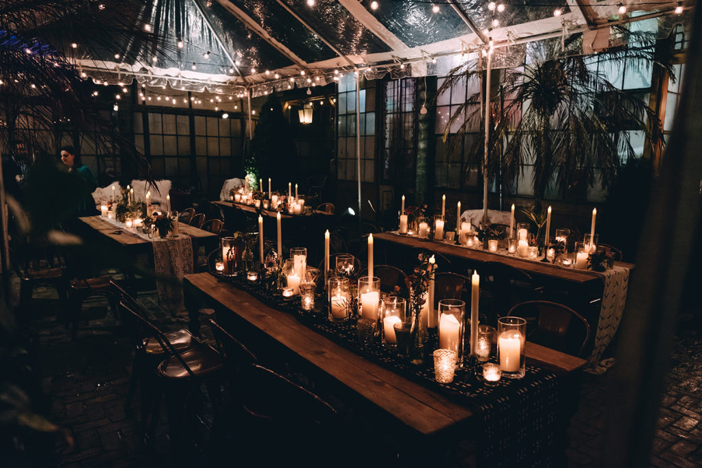 Clear tents can be a beautiful addition to an outdoor New Orleans Wedding | photo by Dark Roux