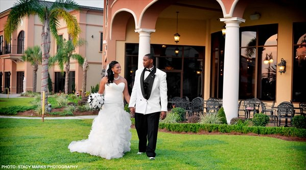 Bride and Groom at Royal Palm. Photo: Stacy Marks Photographer