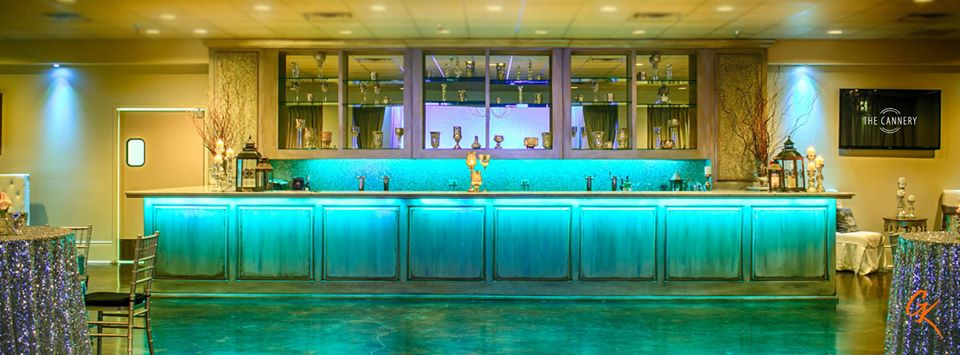 The illuminated bar at The Cannery. Photo: GK Photography