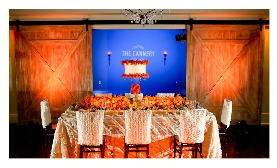 A wedding reception table at The Cannery. Photo: Jessica The Photographer