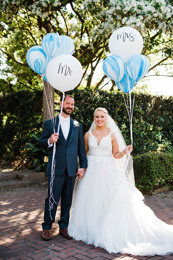 """People told me I looked like a princess all night,"" shares Kate about her Martina Liana wedding gown from MaeMe The Bridal Boutique. ""It was everything I ever imagined."""