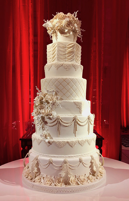 Fondant wedding cake by Kimbla's Cakes