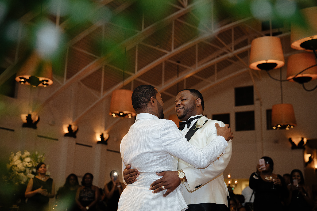 "The couple shared a romantic first dance as newlyweds to the R&B/Soul love song ""Change Your World"" by Anthony Hamilton."