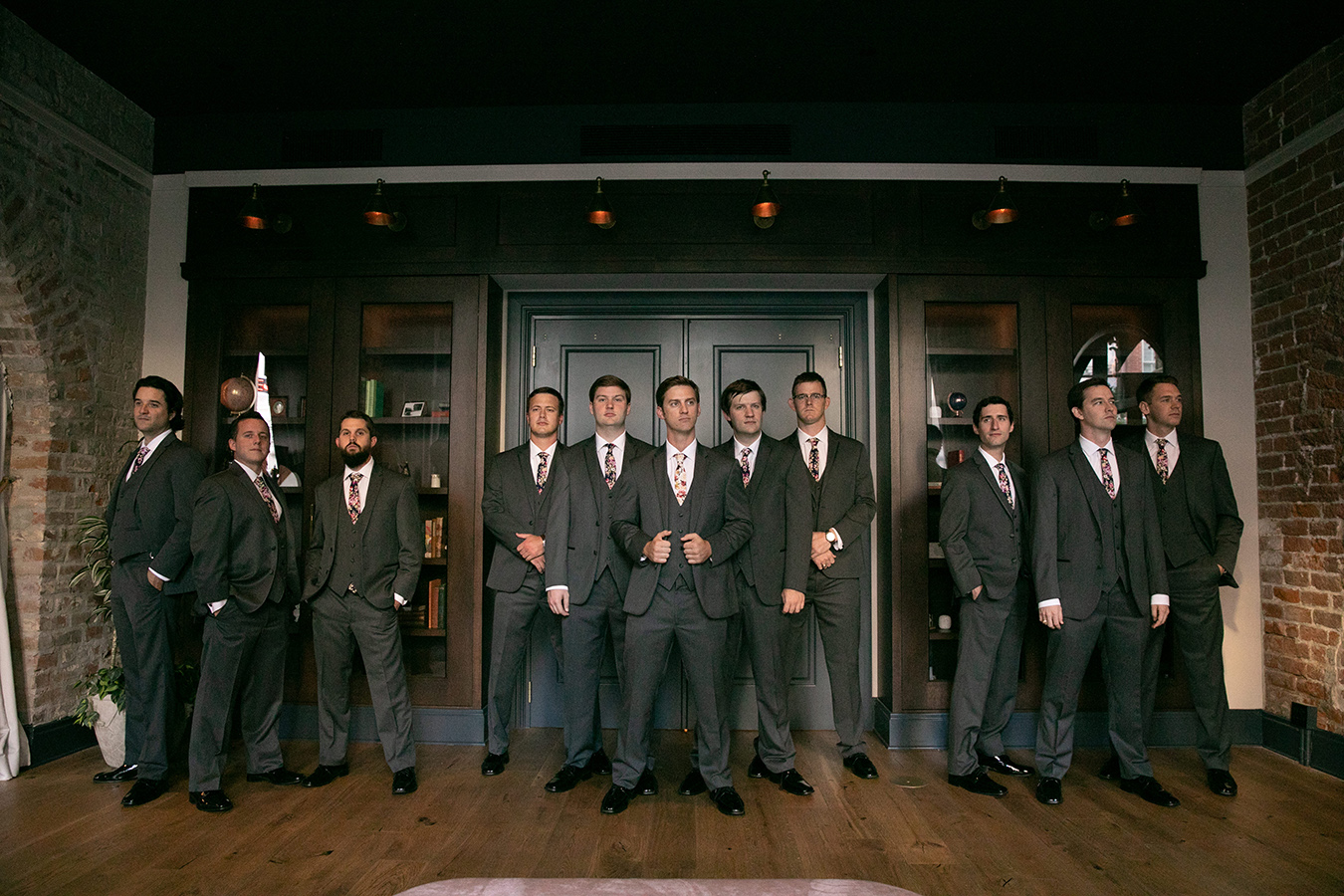 Travis and his groomsmen wore Michael Kors suits from Al's Formal Wear.