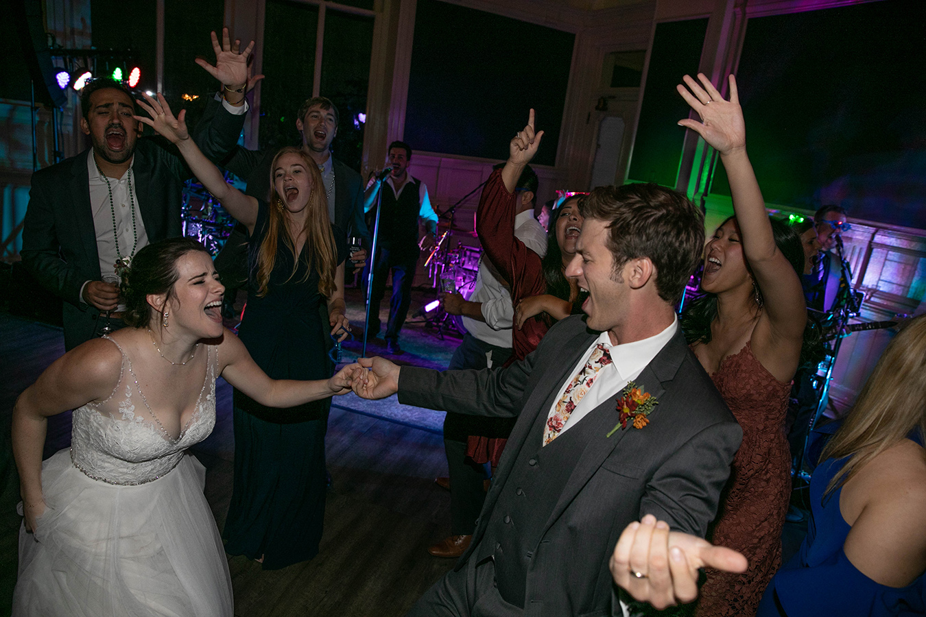 Margaret and Travis danced the night away at the New Orleans Board of Trade.