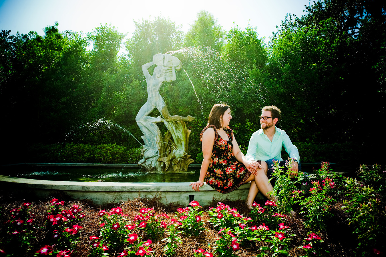 Art Deco fountains in City Park's gardens | Photo by Jessica the Photographer