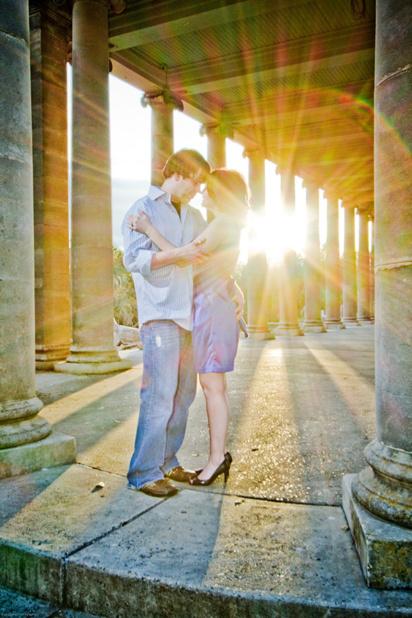 The Peristyle in City Park is a must-stop location on your engagement portrait shoot. | Photo by Jessica The Photographer