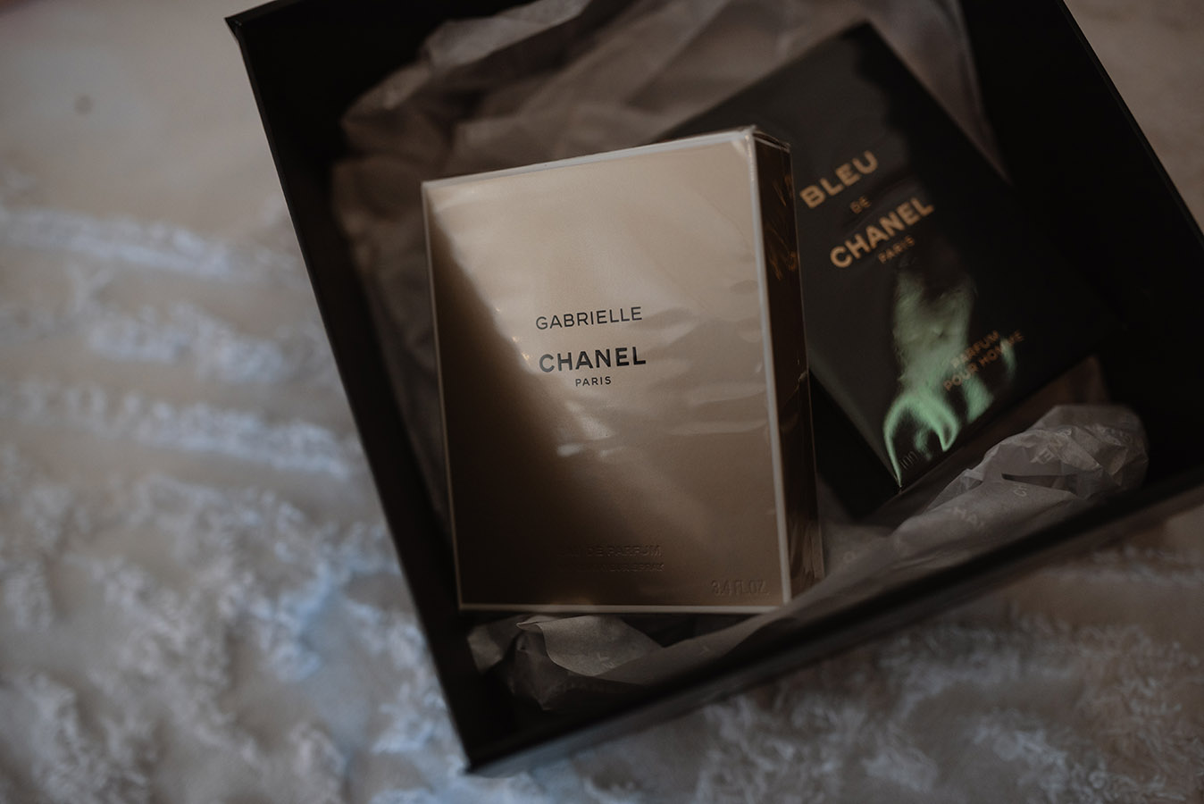 """""""We each wore a special fragrance to create a sensory connection to the memory of our wedding day. We save these perfumes for special occasions, to bring us back to that day."""""""