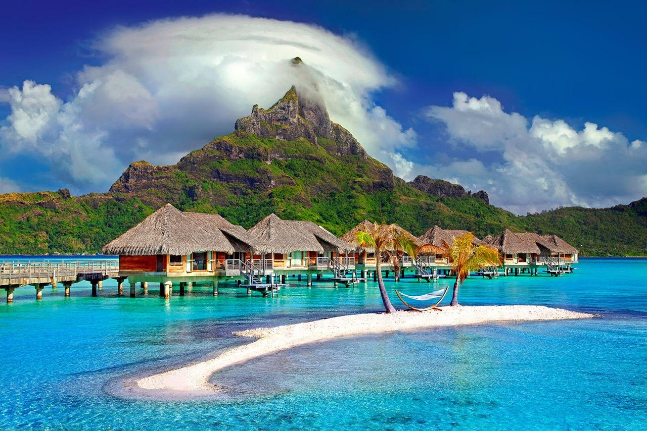 Tropical Island honeymoon destination.