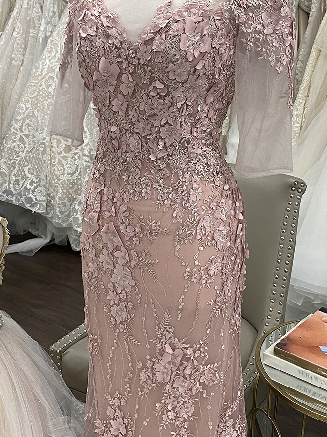 3-D Floral Mother of the Occassion Gown | Pearl's Place Bridal