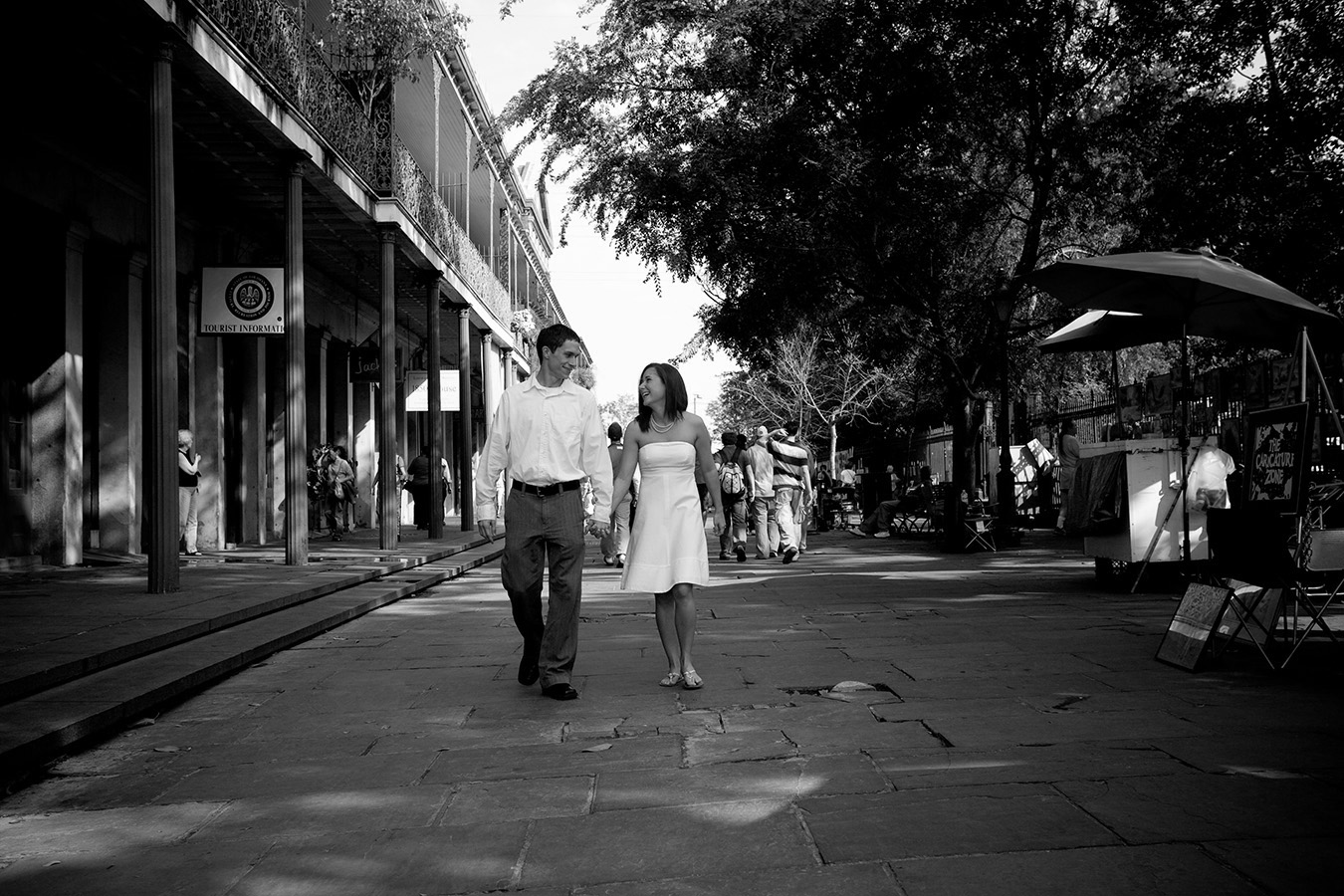 A strolls thru the French Quarter near Jackson Square. | Photo by Jessica The Photographer.