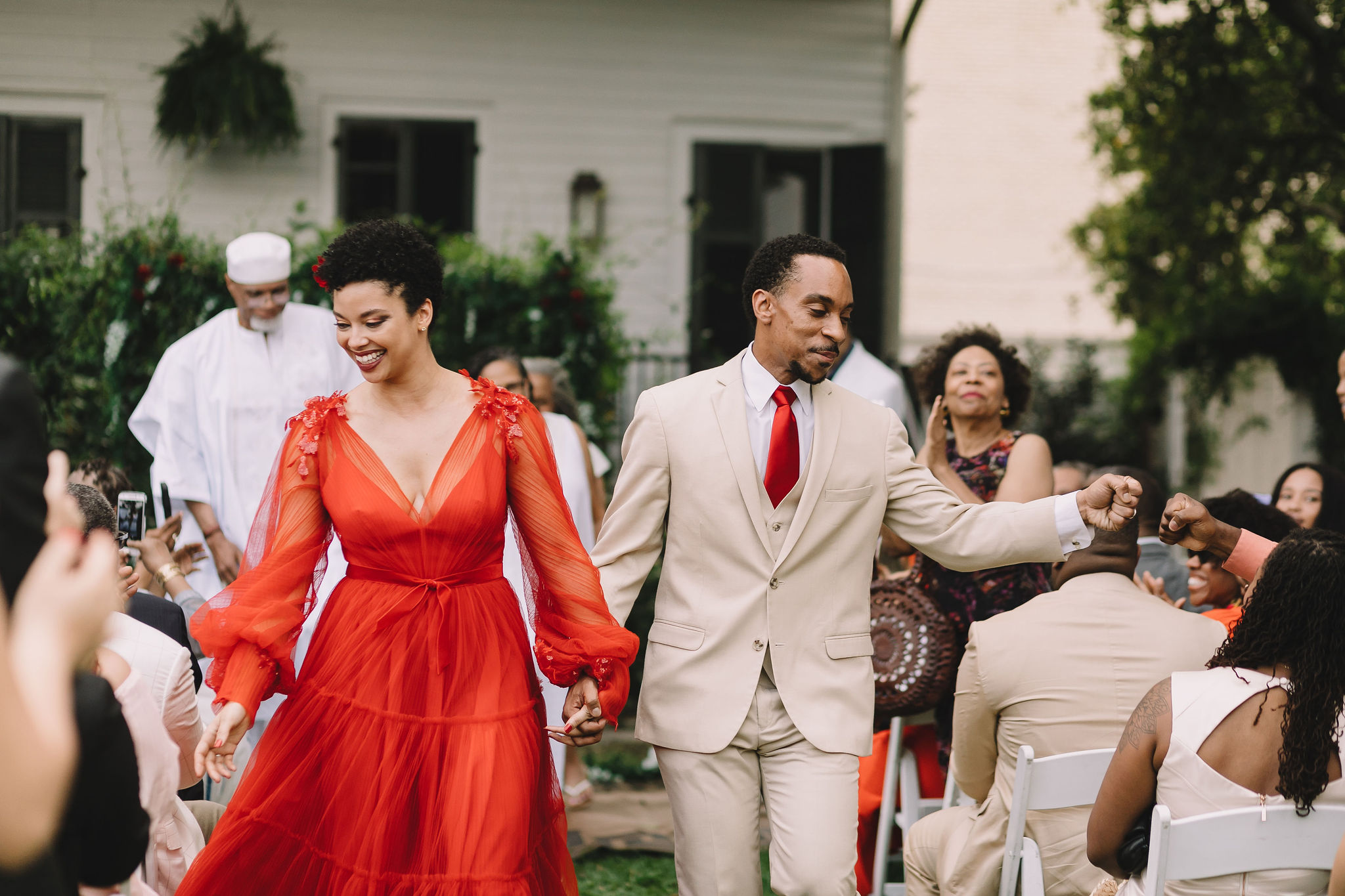 Morolake and Will's wedding ceremony recessional | Photo by Rare Sighting Photography