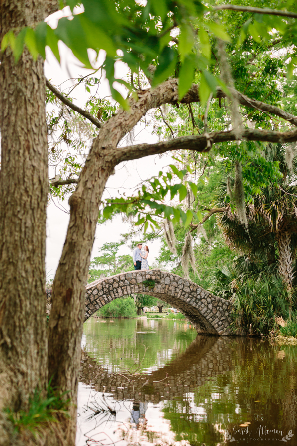 City Park has quaint bridges over it's many lagoons that make beautiful locations for engagement photos. | Photo by Sarah Alleman Photography